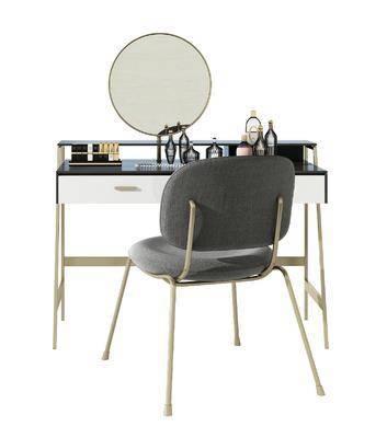 现代妆台妆椅组合
