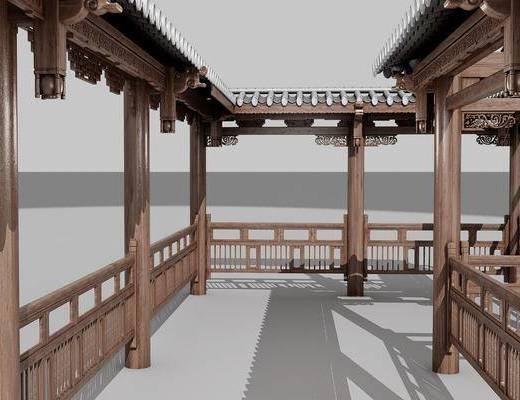 走廊, 中式