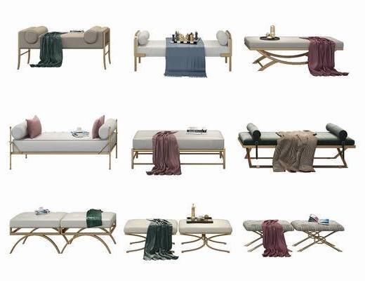 擺件組合, 沙發凳, 沙發腳踏