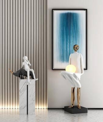 现代雕塑, 摆件