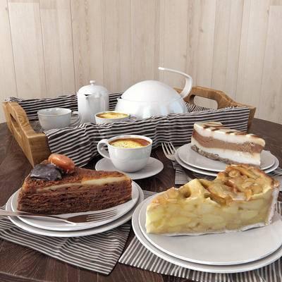 食物, 餐具, 餐布, 现代食物餐具餐布组合, 现代, 蛋糕, 面包