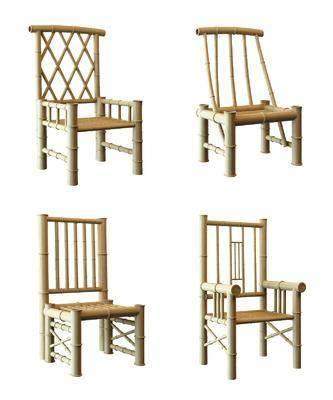 竹椅, 单人椅, 新中式