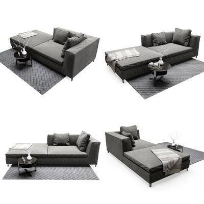 贵妃椅, 沙发, 地毯, 现代