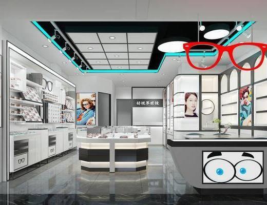 時尚眼鏡店, 商場店鋪, 射燈組合, 現代