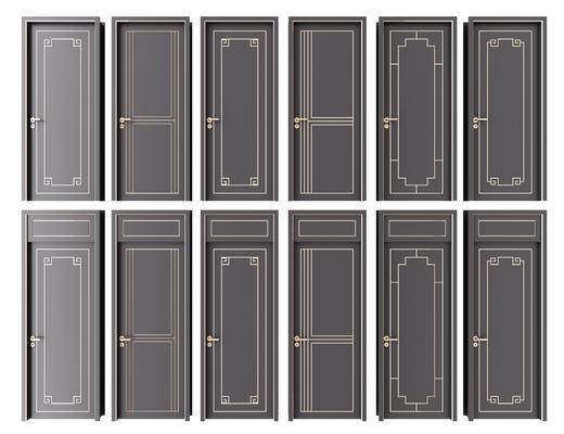 平开门, 推拉门, 房门