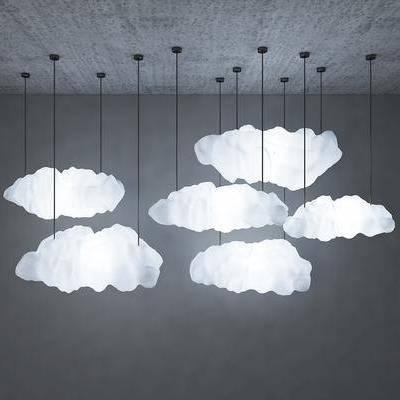吊灯, 云, 灯, 灯具