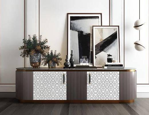 装饰柜, 边柜, 摆件组合, 玄关柜, 电视柜