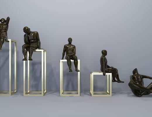 雕塑, 摆件, 现代