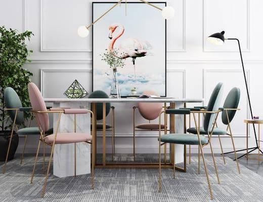 現代餐桌, 餐桌椅, 桌椅組合