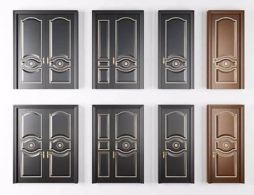 烤漆房门, 平开门, 单开门, 双开门, 子母门, 简欧