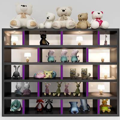 布偶组合, 玩偶, 装饰柜, 现代