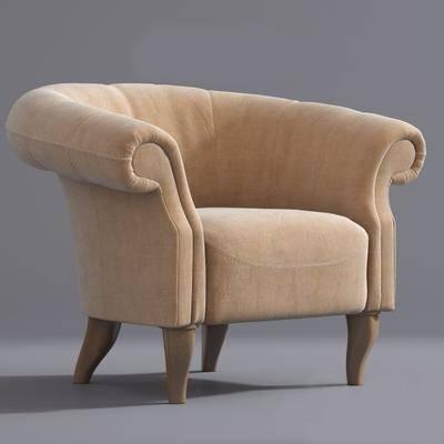 单人沙发, 沙发, 现代