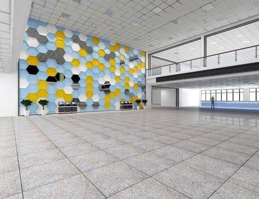 圖書館, 展覽展廳, 大廳, 現代