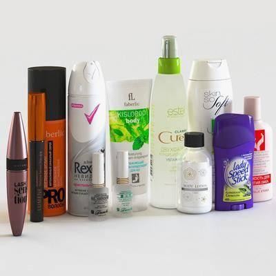 香水, 化妆品, 护肤品, 手霜, 发胶, 沐浴用品, 组合, 现代