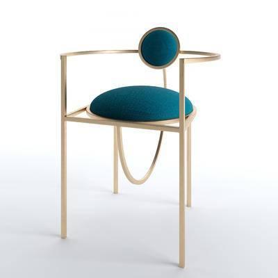 吧椅, 金属椅, 单椅, 靠背椅