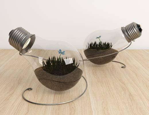 创意灯泡, 摆件组合, 现代