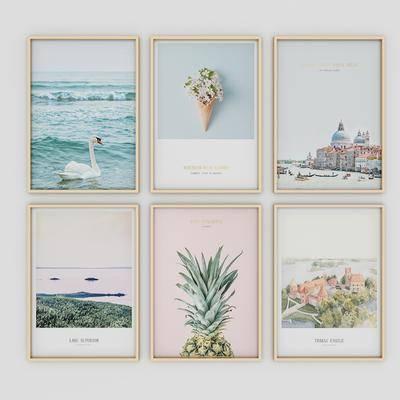 装饰画, 风景画, 组合画, 北欧