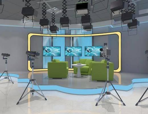 现代演播室, 录影棚