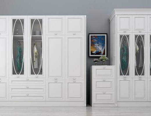 衣柜, 简欧衣柜, 实木, 衣服, 简欧