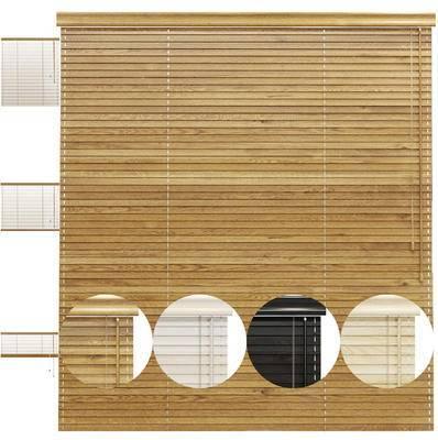 卷帘, 窗帘, 实木卷帘, 百叶窗, 现代