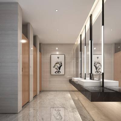 衛生間, 洗手臺組合, 裝飾鏡組合, 現代