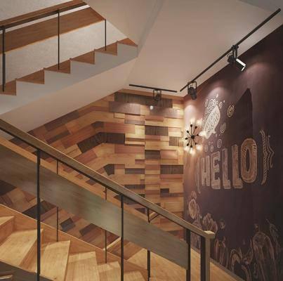 楼梯间, 工业风