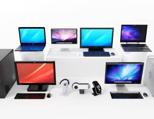 键盘, 鼠标, 笔记本电脑, 机箱, 主机, 摄像头, 蓝牙设备, 电脑组合