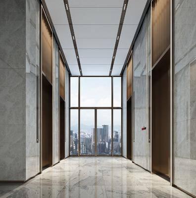 电梯间, 走廊过道