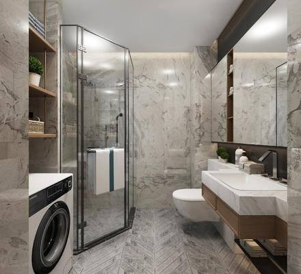 卫浴, 卫生间, 现代卫生间, 现代, 浴缸, 卫浴小件