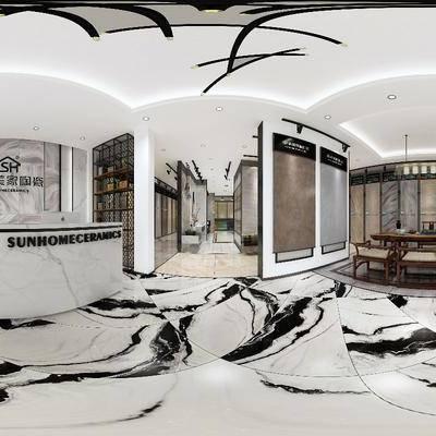 展厅, 展览, 瓷砖, 陶瓷, 全景