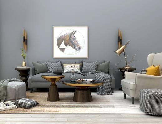 欧式沙发茶几组合, 多人沙发, 组合沙发, 布艺沙发, 个性沙发, 单人沙发, 茶几