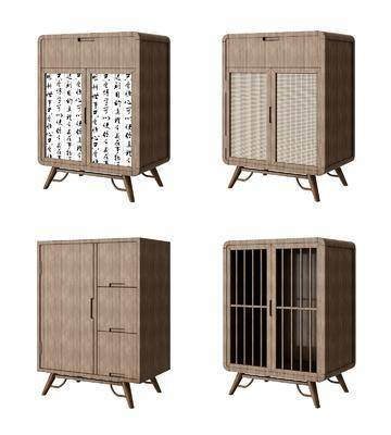 玄关柜, 边柜, 矮柜, 茶水柜, 新中式