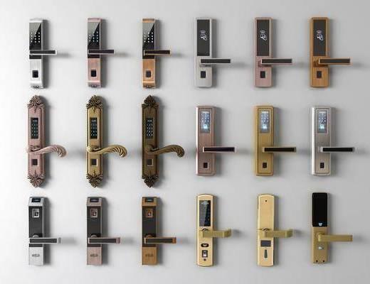 智能锁组合, 门把手组合, 现代