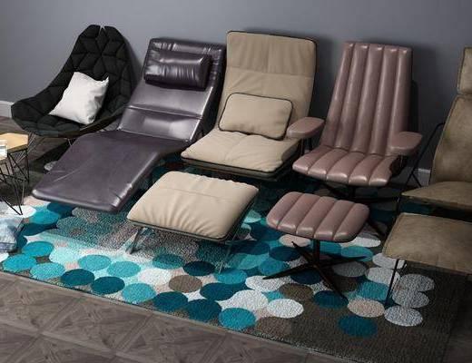 现代躺椅, 躺椅, 单椅