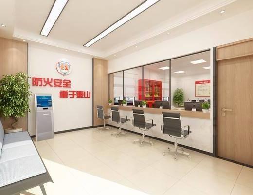 单人床, 办事机关, 窗口, 墙饰, 植物, 单椅, 电视柜, 落地灯