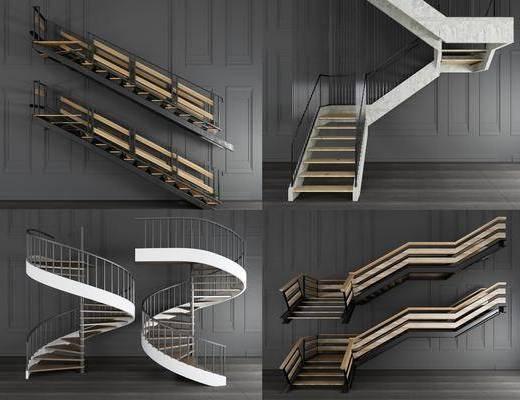 工業風樓梯, 樓梯, 旋轉樓梯