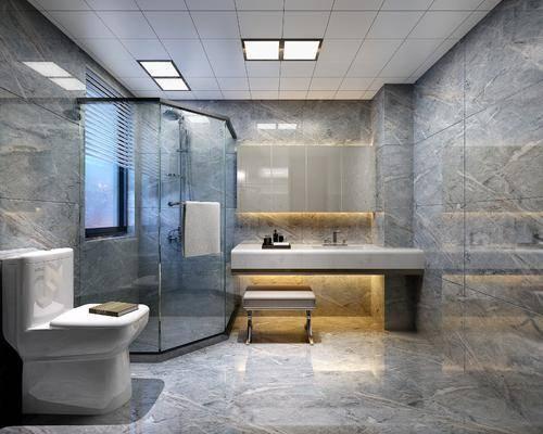 现代, 浴室, 马桶, ?#35789;?#21488;, 沙发凳, 吸顶灯