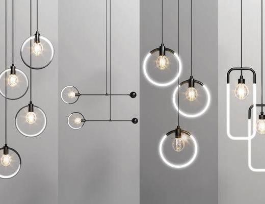 创意吊灯, 吊灯组合, 现代