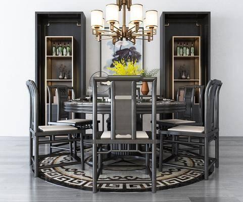 新中式餐桌椅, 餐桌椅