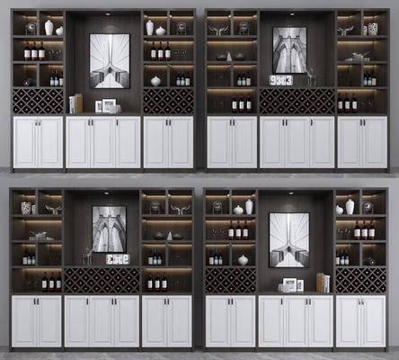 酒柜, 装饰柜, 酒瓶, 现代