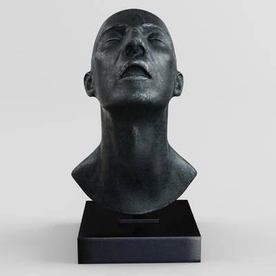 人物, 头像, 现代, 雕像, 铜雕, 雕塑, 石雕, 后现代
