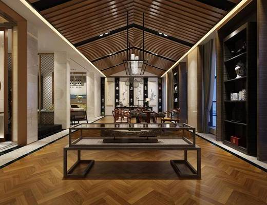 中式, 茶室, 沙发
