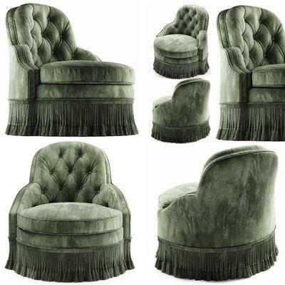单人沙发, 绒布沙发, 简欧, 双十一