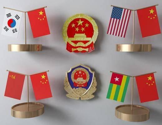 旗帜国徽, 现代