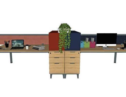 现代办公桌, 现代员工位, 现代工作位