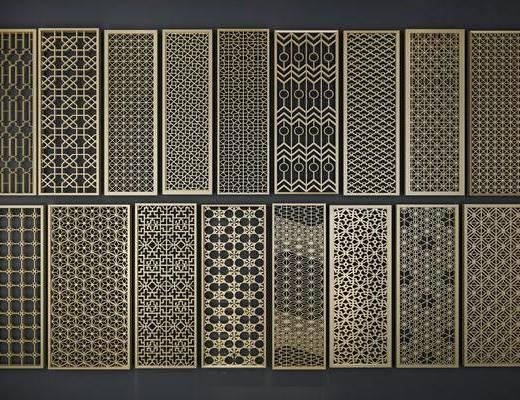 锈钢花格, 花格隔断, 现代