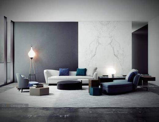 沙发组合, 现代沙发组合, 茶几, 休闲椅, 休闲沙发, 落地灯, 单椅, 脚榻, 现代, 双十一