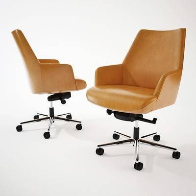 单人椅, 办公椅, 轮滑椅, 现代