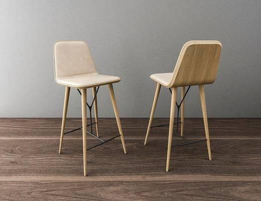 吧椅, 单人椅, 北欧