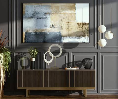现代电视柜, 边柜, 柜体组合